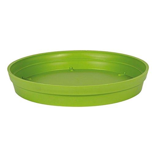 EDA Plastiques - Pot de Fleur - Soucoupe Ø18,5cm pour Pot de Fleur Toscane Pop Ø25cm - Vert Matcha