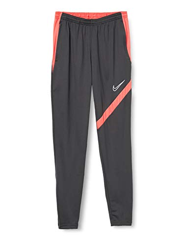 Nike Dri-FIT Academy Pro Pantalon De Football Homme, Anthracite/Bright Crimson/Blanc, S