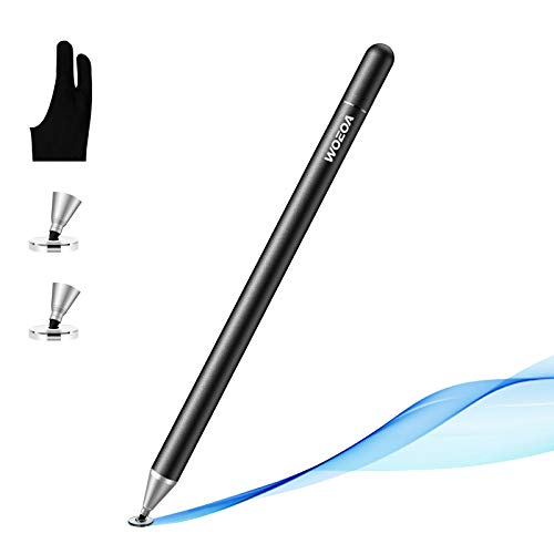 Stylus Penna,WOEOA Penna Touch Pennino Tablet Penna per ipad Tablet Punta Fine Universale con Artist Guanto per iPad,iphone,Smartphone ,Touchscreen e Tablet (nero)