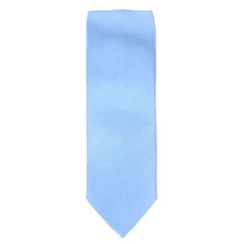Cotton Park - Cravate 100% soie bleue ciel - Homme