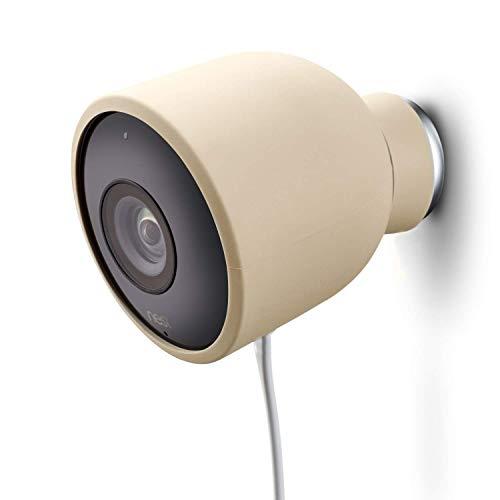 Fundas de Silicona de Color para cámara de Seguridad de Exterior Nest CAM – Protege y camufla, Fundas de Silicona Resistentes a Rayos UV e Impermeables de Wesserstein (1 Pack, Beige)