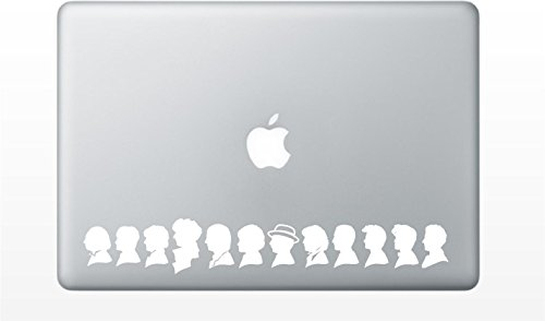 Bargain Max Decals - The 13 Doctors Sticker Decal Notebook Car Laptop 9' (White)