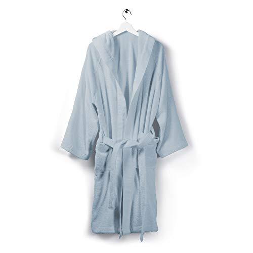Caleffi Albornoz de algodón Azul Soft – 1000465