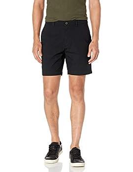 Amazon Essentials Men s Slim-Fit Lightweight Stretch 7  Short Black 32