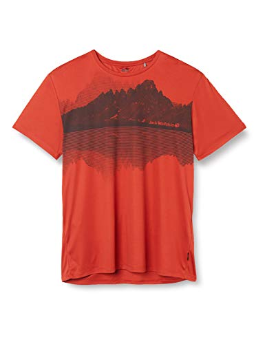 Jack Wolfskin Herren Peak Graphic T-Shirt, Mexican Pepper, L