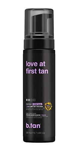 b.tan Self Tan Mousse - Love at First Tan - Violet Self Tanner For Fast, Rich Dark Tan, 6.7 Fl oz