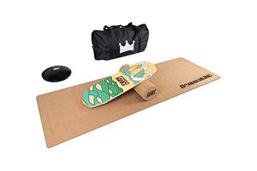 BoarderKING Indoorboard Limited Edition Berge Skateboard Surfboard Trickboard Balanceboard Balance Board (Oktagon Bundle, 150 mm x 45 cm (∅ x L))