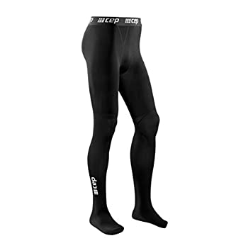 Recovery Compression Leggings for Men - CEP Men's Recovery Pro Tights Black III