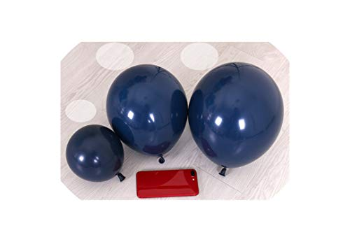 20Pcs Light Grey Latex Balloons Bachelorette Party Decorations Bridal Shower Wedding Anniversary Party Decors,Navy Blue,10Inch