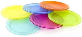 Colorful Plastic Picnic/Party Supply Set - Plastic Plates - 6 Pieces
