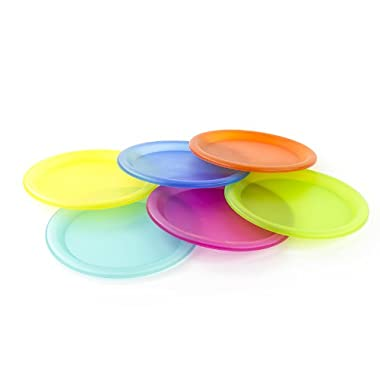 Colorful Plastic Picnic / Party Supply Set - Plastic Plates - 6 Pieces