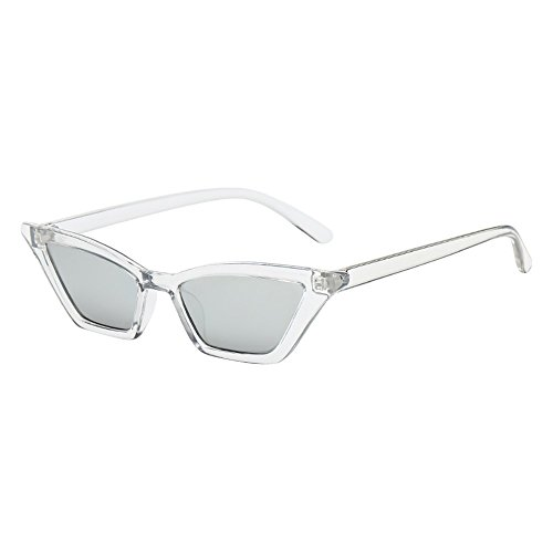 Tuuu Cat Eye Square Sunglasses, Stylish Flat Top Shades Sunglasses with Plastic Frame, Polarized UV Protection Sunglasses for Outdoor Sports