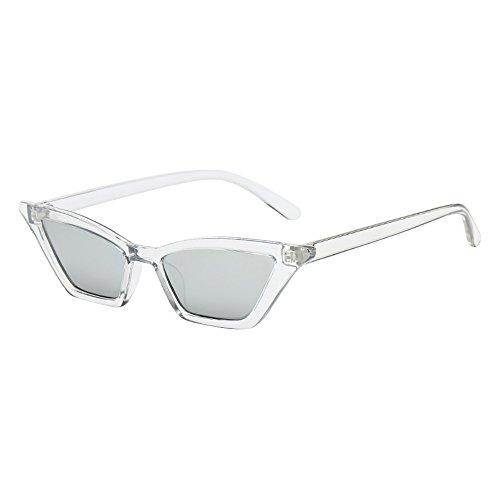 Skang - Gafas de sol para mujer con ojos de gato antirreflejos, unisex, protección UV, estilo retro, vintage, ligeras, a la moda