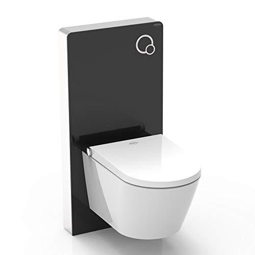 MEWATEC Vorteilsset Marken Dusch-WC Komplettanlage Memphis Basic inkl. Premium Sanitärmodul MagicWall schwarz