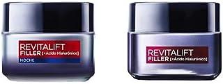 LOréal Paris Dermo Expertise Revitalift Filler con ácido hialurónico Rutina - Crema día y Crema de Noche 50 ml/unidad