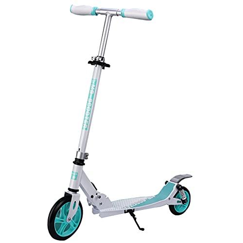 patinetes Scooter, Cojinete De Carga De Alta Resistencia Y Más Duradero, 3 Altura De Engranajes Ajustable, Adecuada para Niños En Diferentes Períodos(Color:Azul)