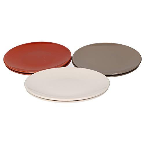 Van Well 6-delige dessertbordset Mare voor 6 personen I taartbord plat I aardewerk I vaatwasmachinebestendig
