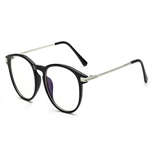 Hzjundasi Gafas anti luz azul para ordenador/lectura/video juegos/anti fatiga y contra anti UV Redondo Vintage - Gafas Gaming para Mujer Hombres