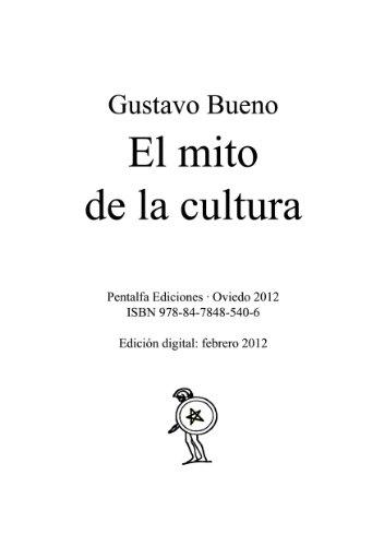 El mito de la cultura eBook: Bueno, Gustavo: Amazon.es: Tienda Kindle