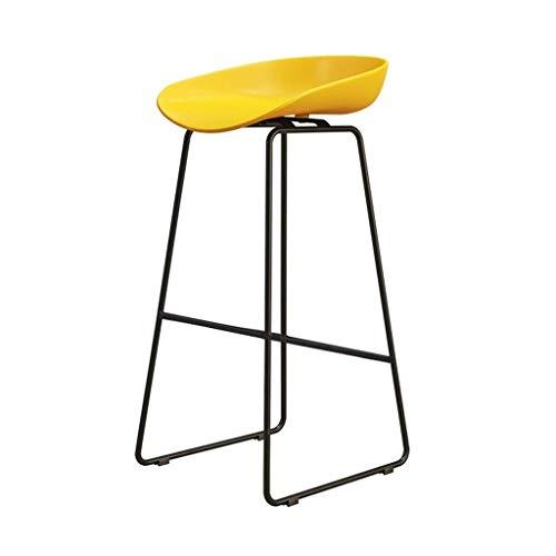WWW-DENG barkruk keuken kruk dinging side Chair Café keuken stoel PP zitting en voeten van metaal zwart barkruk