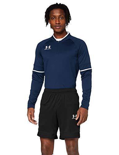 Under Armour Challenger III Knit Short, pantalones cortos para entrenar, pantalón short de hombre para correr hombre, Negro (Black/White (001)), L
