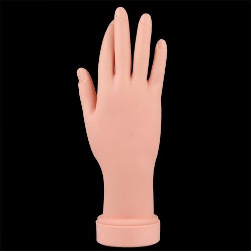 Mano De Caucho Dedos De Práctica Flexible Manicura Pa Arte De Uñas PVC