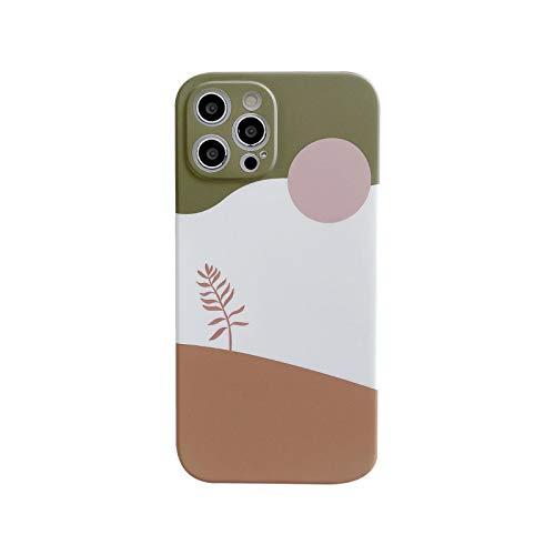 La nueva funda de teléfono floral púrpura y blanco para iPhone 12 11 Pro XS MAX XR X 7 8 Plus SE2020 suave IMD lente cubierta protectora trasera J5-para iPhone 11Pro (5.8