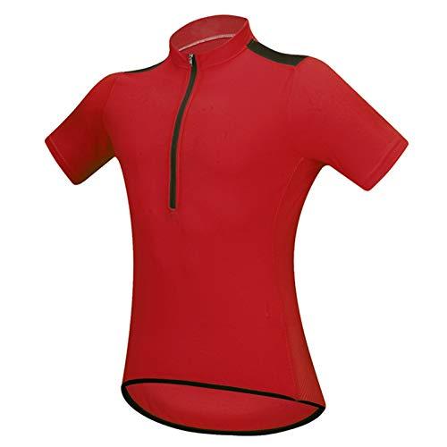 Jerseys de Equitación Unisex,Verano Camisetas para Bicicletas Ropa Manga Corta Ropa Deportiva de MTB Bicicletas Tops con 3 Bolsillos,Transpirable Secado Rápido Shirts(Size:XXXL,Color:Rojo)