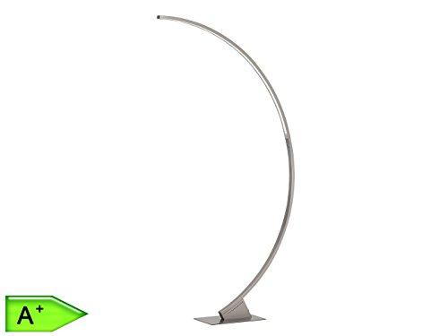WOFI Stehleuchte, 1-flammig, Serie Luz, 1 x LED, 30 W, Höhe 185 cm, nickel matt 3682.01.64.0500