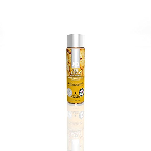 System JO H2O Water Based Juicy Pineapple Flavored Lubricant 4 oz.