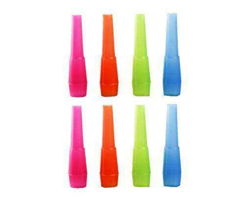 Shisha Mundstücke Hygiene Bunt 100/200/400 STK. - Einweg Hygienemundstück für Hookah - kompatibel mit Carbon, Alu und Glas Mundstück - Wasserpfeife Zubehör (400 Stück)