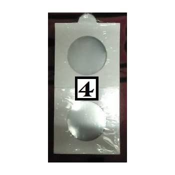 IHC Coin Holder - 50 Nos. - Size No. 4 Holders (White, 25mm)