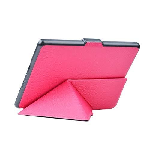 GHC Pad Custodie e Cover per Kindle 8th Generation Leather 2016 eReader Origami Copertina Auto Dormire e svegliarsi Custodia Protettiva Shell per Kindle 8 (Colore : Rose Red)
