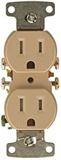 HUBBELL WIRING GIDDS-606461 RR15SITR Tamper Proof Receptacle 15 Amps Ivory-606461, Ivory