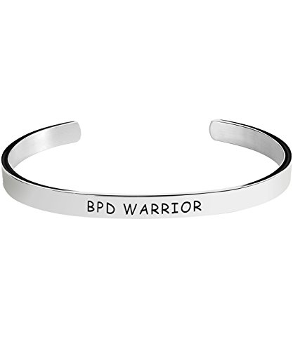 Borderline Personality Disorder Awareness Bracelet - BPD Warrior - Stamped Bracelets Jewelry Product Gifts for Men/Women