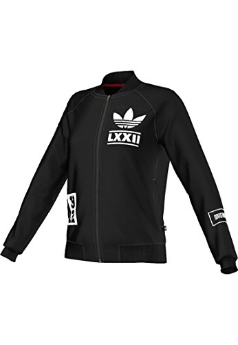 Adidas Trainingsjacke Women BRLN L Badge TT AB2679 Schwarz, Size:36