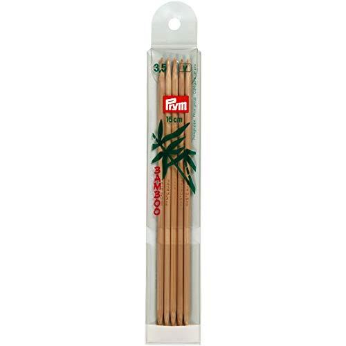 Prym INOX INOX Bambus Strumpf- und Handschuhstricknadeln 15cm und 20cm 3.5/15cm