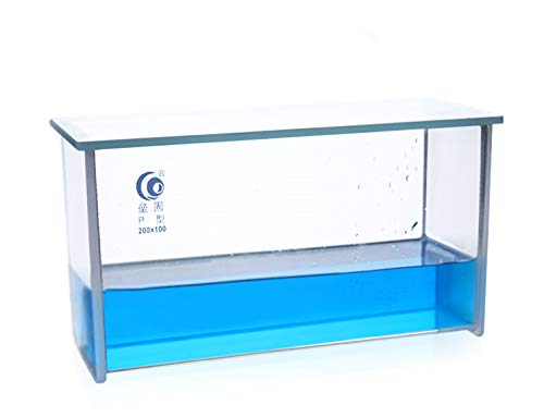 Lab Thin Layer Chromatography TLC Plates P Type Developing Tanks with Lid Reusable Borosilicate Glass, Flat Slot Design 200×100mm