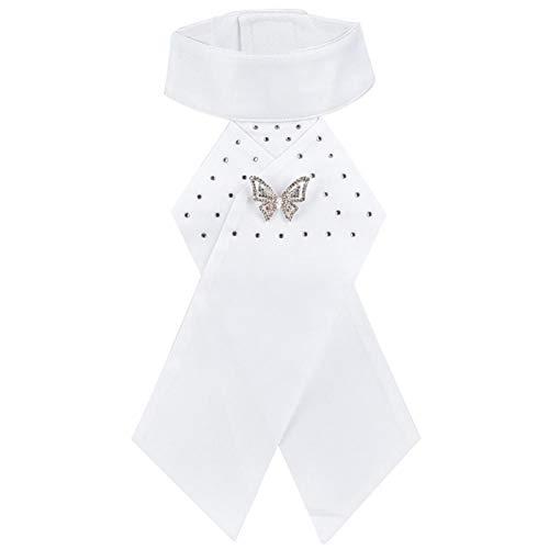 SALUTUYA Corbata Blanca Duradera de algodón Peinado para Montar a Caballo, para Montar a Caballo(One Size, Butterfly)