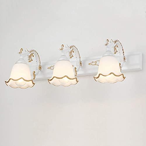 Luces de espejo decorativas para el hogar, luz frontal para espejo de tocador de baño, lámpara de lavabo de baño moderna con led, sobre el espejo, montaje en la pared del baño, lámpara de armario co