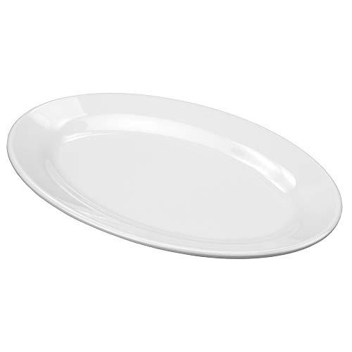 Travessa Oval Tradicional Rasa 20 Cm Melamina 100% Profissional, Gourmet Mix Gx5418, Branco Gourmet Mix Branco