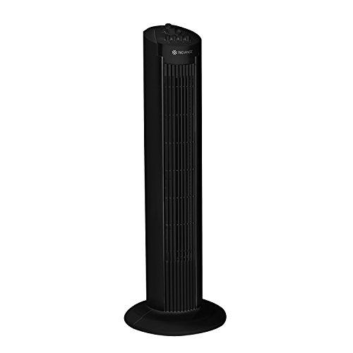 Tecvance, ventilatore a torre girevole, marchio di sicurezza verificata, 3livelli di velocità e timer, colore nero