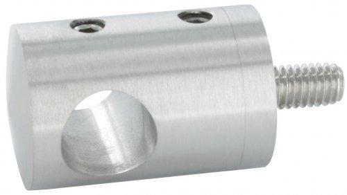 Querstabhalter Anschluss flach, für Stab ø 10 mm, aus V2A