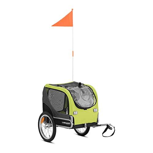 Uniprodo Remolque De Bicicleta para Mascotas Carrito Bici Uni_Trailer_19 (con reflectores a neumáticos, hasta 20 kg, Acople Universal)