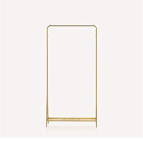 JIAO PAI Perchas De Barra Horizontal, Soporte De Exhibición De Ropa Dorada Sencillez para Vestido Abrigo Riel para Ropa Compartimento De Hierro Forjado Zapatero(Size:160 * 60CM,Color:Oro)