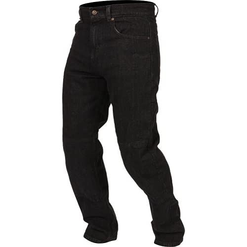 HHH SPORTS WEARS Jeans da Moto Uomo 3H-JSE con Kevlar E Protezioni Ginocchia e Fianchi Regolabili (CE) LIV2 (52 Regular)