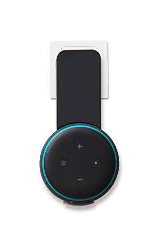 Amazon Basics - Soporte para montaje en pared para Echo Dot de tercera generación, Negro