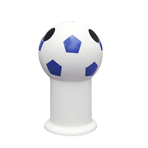 LOMJK Papeleras Forma de fútbol Forma de Basura con Cubo Interior, Lata de Basura Grande para Exteriores para Uso en Interiores, Exteriores o comerciales Cubos de Basura (Color : Blue)