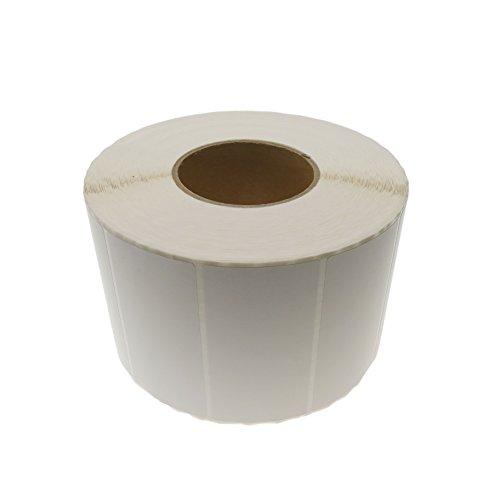 Cablematic PN20071610020174186 - SD43 Rollo de 2500 Etiquetas Adhesivas para Impresora Transferencia térmica, 101.6 x 50.8 mm, Blanco