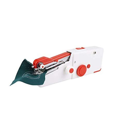 Naaimachine 1 set, Beginners Handheld Draagbaar met nietmachine Snoerloze set Elektrisch huishoudelijk gereedschap voor stoffen kleding Kinderen Doek Thuisgebruik Gebruik Naaimachine Voor knutselen D